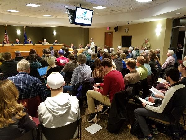 Audience at Council Meeting
